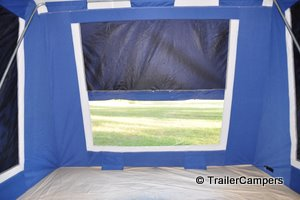 Awning Half Down on PVC Window for Wet Conditions