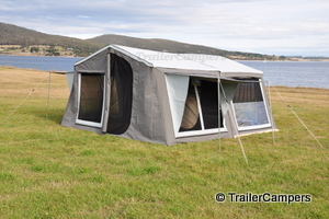 Tent with Annex & Window Awnings