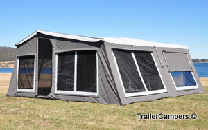 Full Tent With Annex - Back Window Half Open