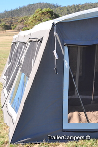 Tent with Additional Canvas Annex