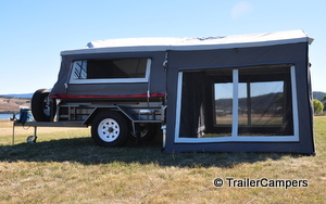 Left Side of Tent - Trailer Not Included